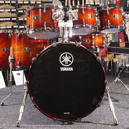 "Yamaha Live Custom 22"" (7pc) Shell Pack in Amber Shadow Sunburst"