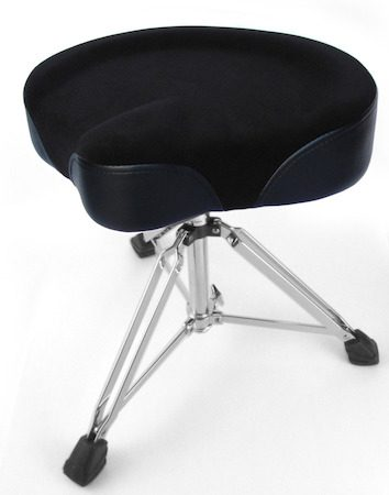 Custom Percussion Black Throne with Black Felt Top