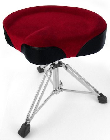 Custom Percussion Black Throne with Red Felt Top