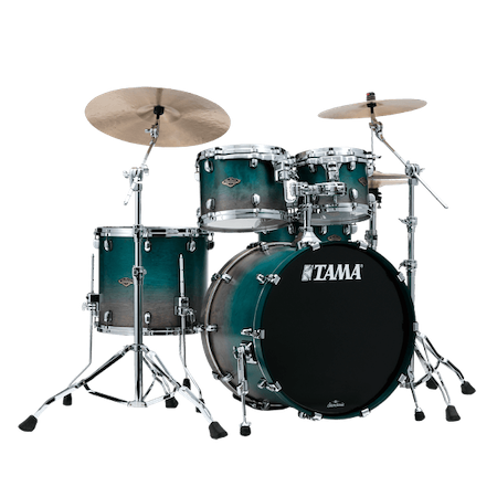 "Tama Starclassic Walnut/Birch 22"" (4pc) Shell Pack in Satin Sapphire Fade"