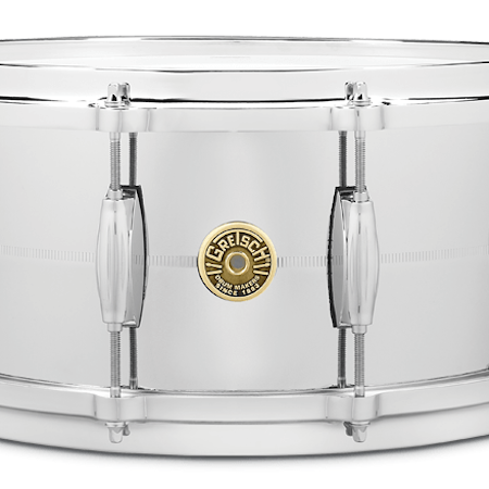 "Gretsch Brooklyn 14"" x 6.5"" Chrome Over Brass Snare Drum"