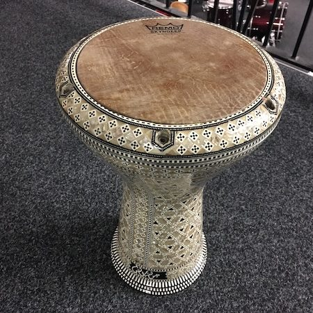 Pre-Loved Doumbek in Royal Mosaic with Carry Case