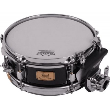 "Pearl Maple Shell 10"" x 4"" Sopranino Snare Drum in Piano Black"