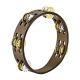 Meinl Compact Tambourine in Walnut Brown with Hammered Steel/Brass Jingles