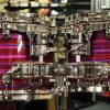 "Tama Starclassic Walnut/Birch 22"" (4pc) Shell Pack in Lacquer Phantasm Oyster"