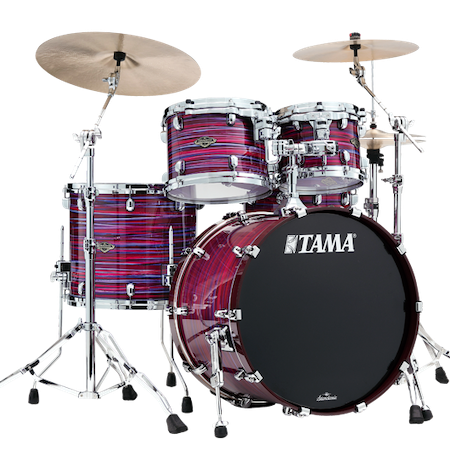 """Tama Starclassic Walnut/Birch 22"""" (4pc) Shell Pack in Lacquer Phantasm Oyster"""